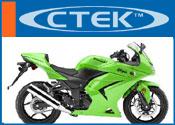 Ctek acculader voor Kawasakie motorfiets